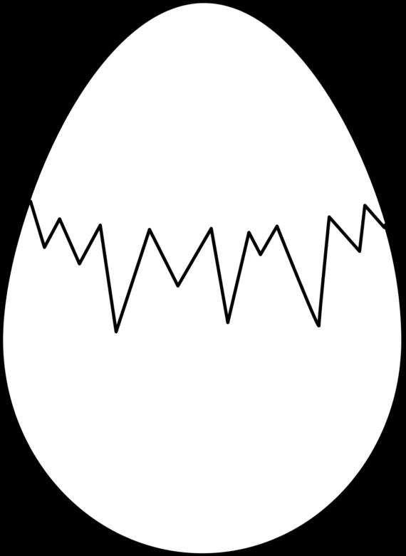 White clipart egg Free White of Black Free