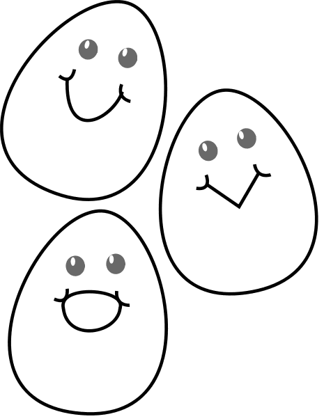 Monochrome clipart egg Pages Clipart Pages Easter