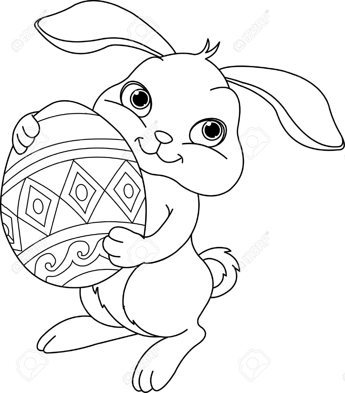 White clipart easter bunny Search easter bunny art Google