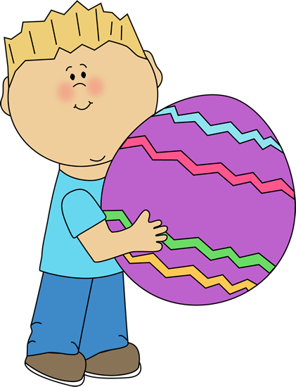 Child clipart banner A Big Art a Easter