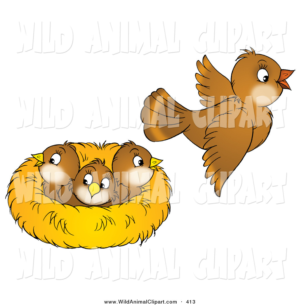 Nest clipart cute Art baby clipart a animals