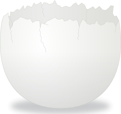 Texture clipart cracked egg #1