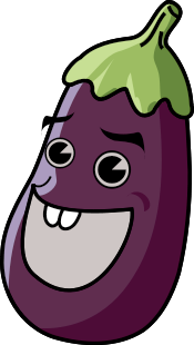 Eggplant clipart Cartoon Clip Laughing Public Free