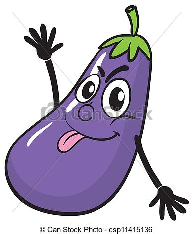 Eggplant clipart animated A a white of on