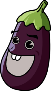 Eggplant clipart animated Clip Eggplant  art at