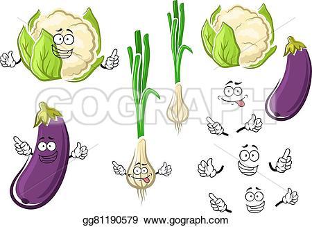 Eggplant clipart cauliflower Vegetables and eggplant vegetables