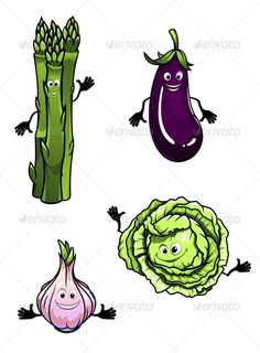 Eggplant clipart face Cabbage Eggplant Cartoon Vegetables Spinach