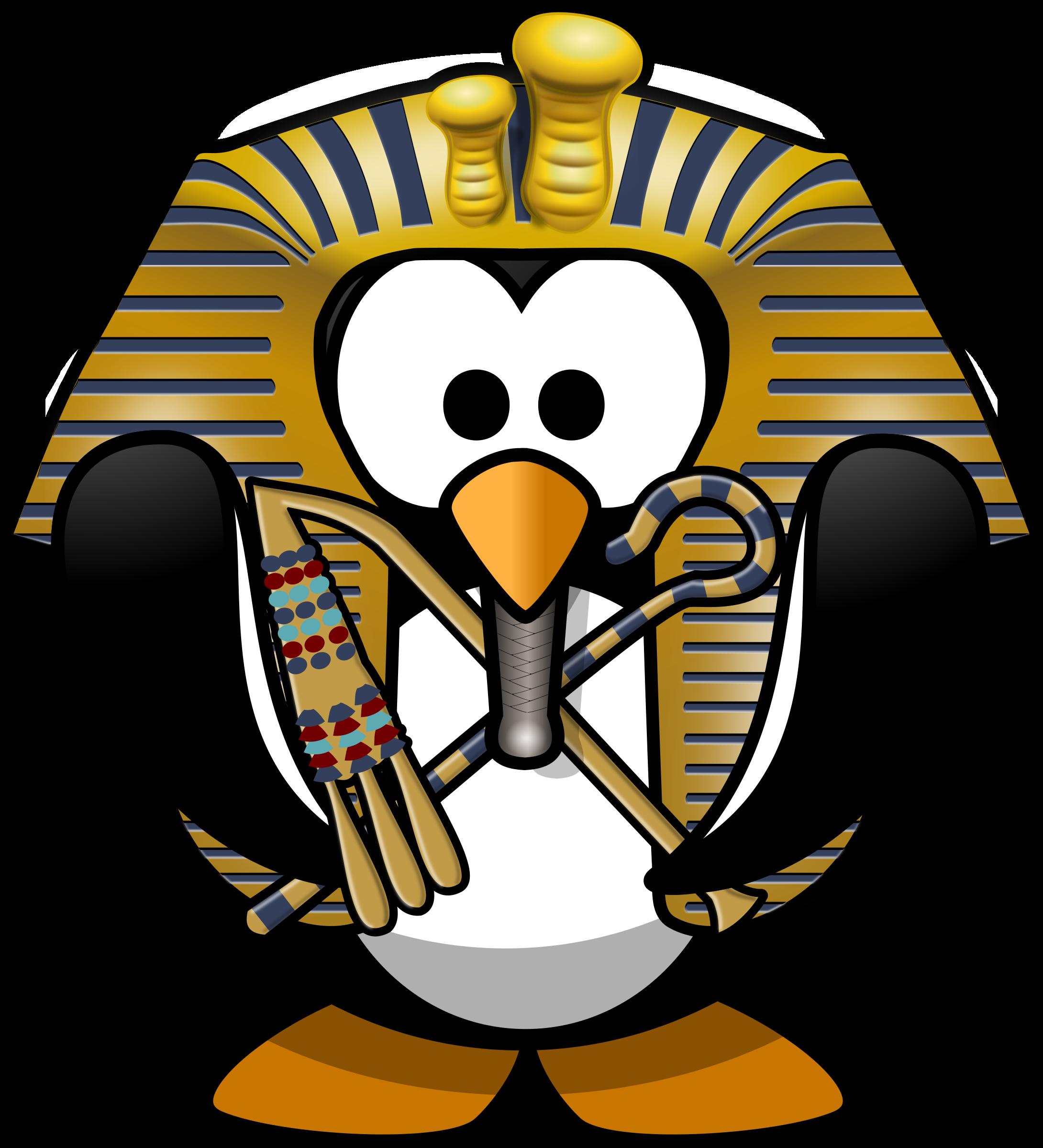 Penguin Tut Ankh Penguin Clipart