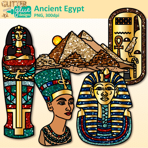 Egyptian Queen clipart black and white Pyramids Clip Egypt tut Clip