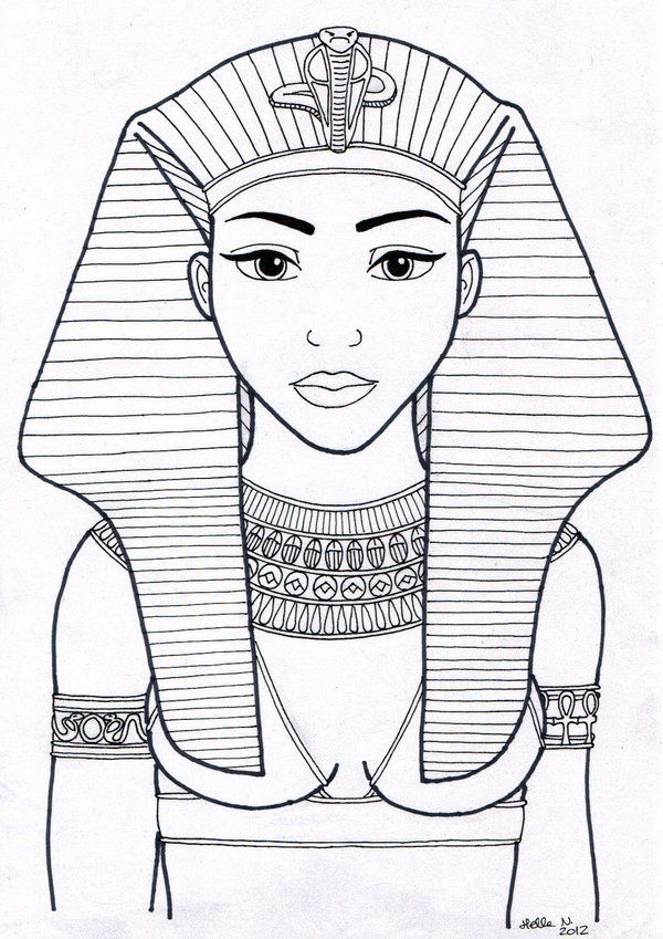 Egyptian Queen clipart black and white By egypte 79 deviantart best