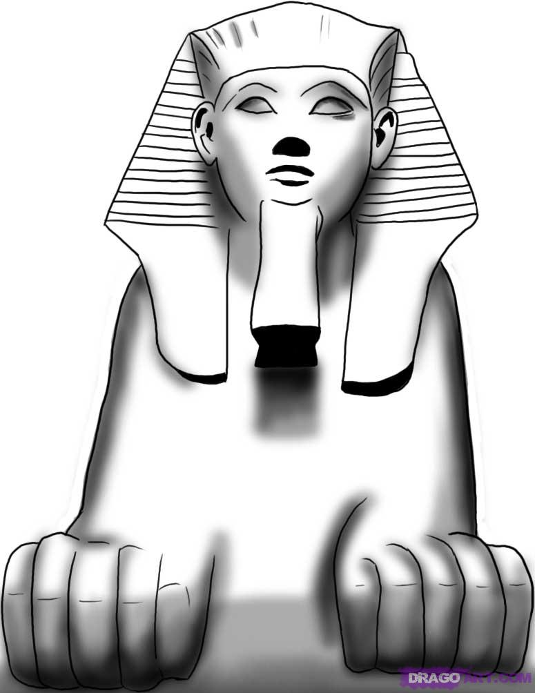 Drawn pyramid sphinx pyramid Find Egyptian Egypt and How