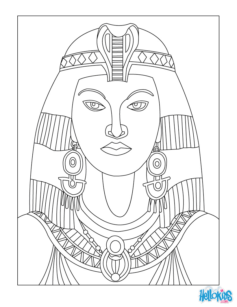 Egyptian Queen clipart egyptian art OF CLEOPATRA for Coloring QUEEN