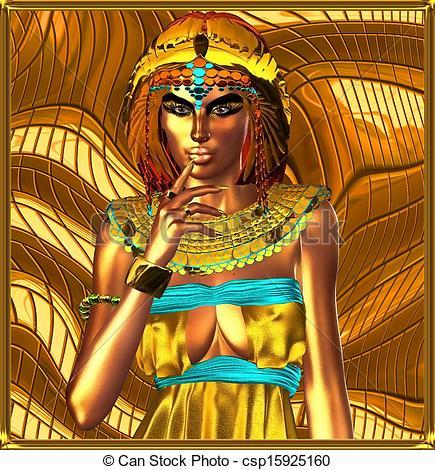 Egyptian Queen clipart egyptian art Stock abstract of queen csp15925160