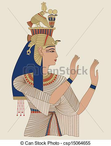 Egyptian Queen clipart egyptian art Of Clipart Queen Taia Vector