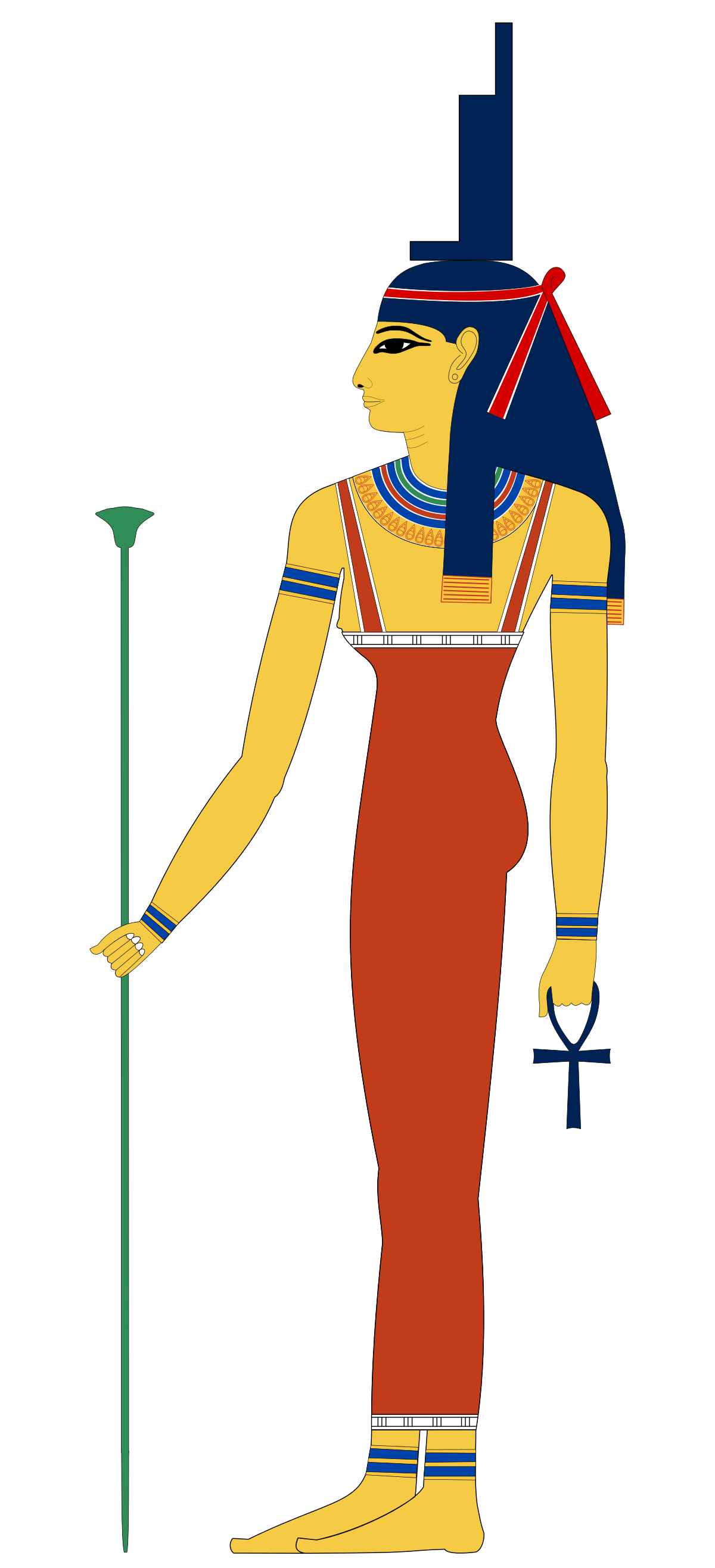 Goddess clipart egyption Isis Wikipedia