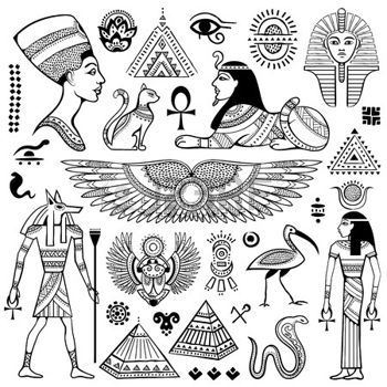 Egyptian Queen clipart found De Conjunto aislado símbolos egyptian