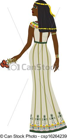 Egyptian Queen clipart egyptian woman Length woman of full full