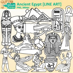 Ancient clipart king tut Ancient tut Designs $5 king