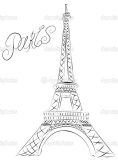 Eiffel Tower clipart simple Acrylics on Looking Tower marina99