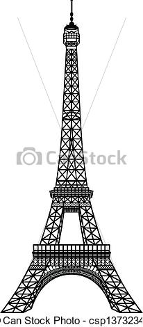 Eiffel Tower clipart line drawing Tower Eiffel of Black EPS