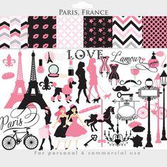 Eiffel Tower clipart simple Art love Clip love Set