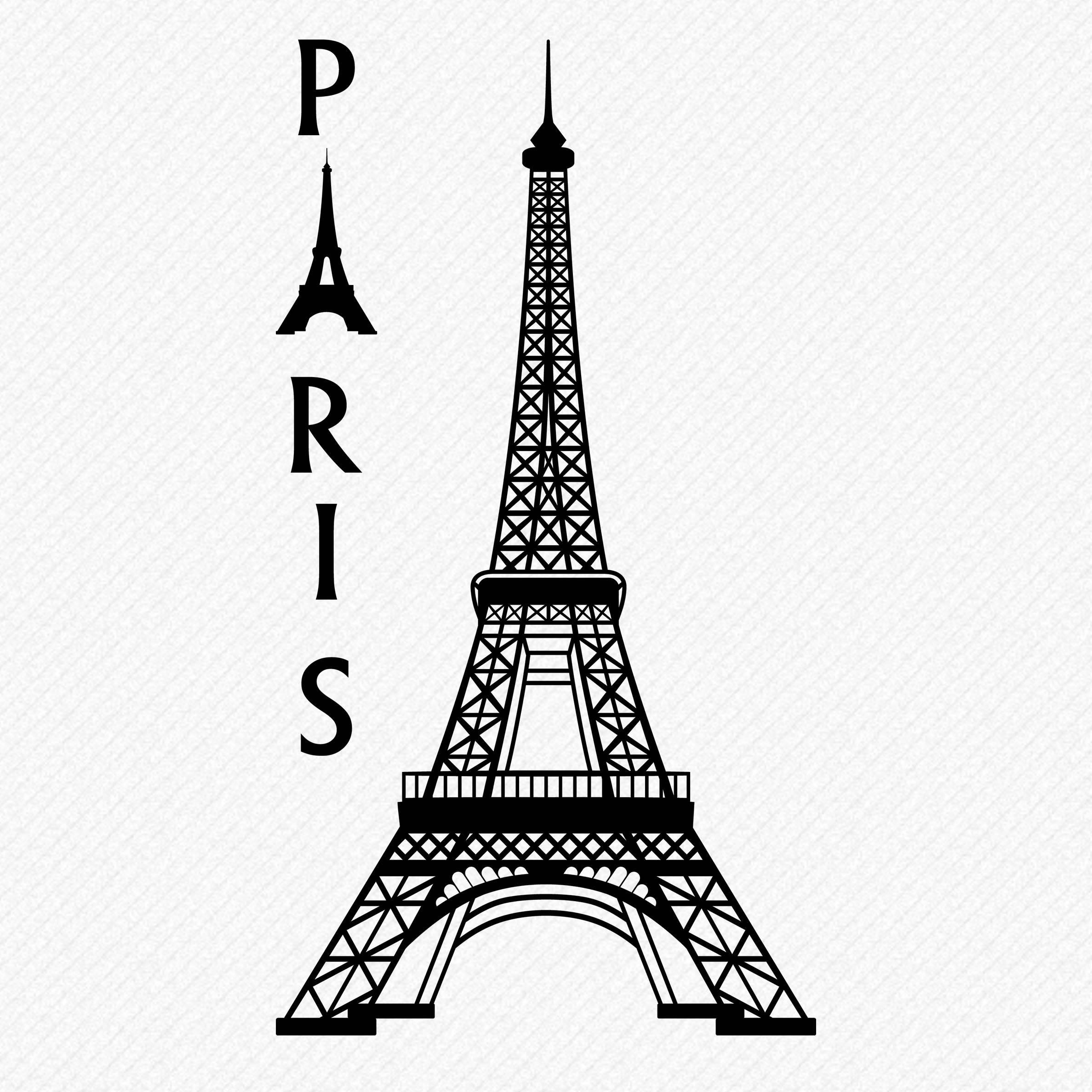 Eiffel Tower clipart silhouette Eiffel  a Clipart Silhouette