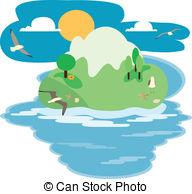 Eiland clipart beach scene Fantasy with  Illustrator 498