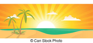 Beach clipart banner And free Illustration Exotic
