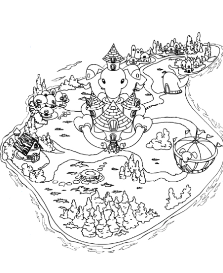Eiland clipart coloring page Them them Colouring Pages put