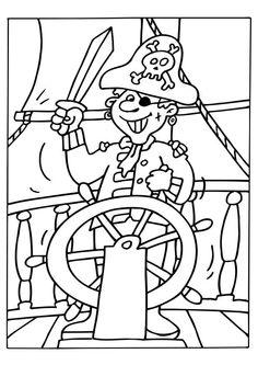 Eiland clipart coloring page PIRATES  1 de Mandala