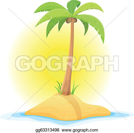Beach clipart desert island Tropical in desert beach Drawing