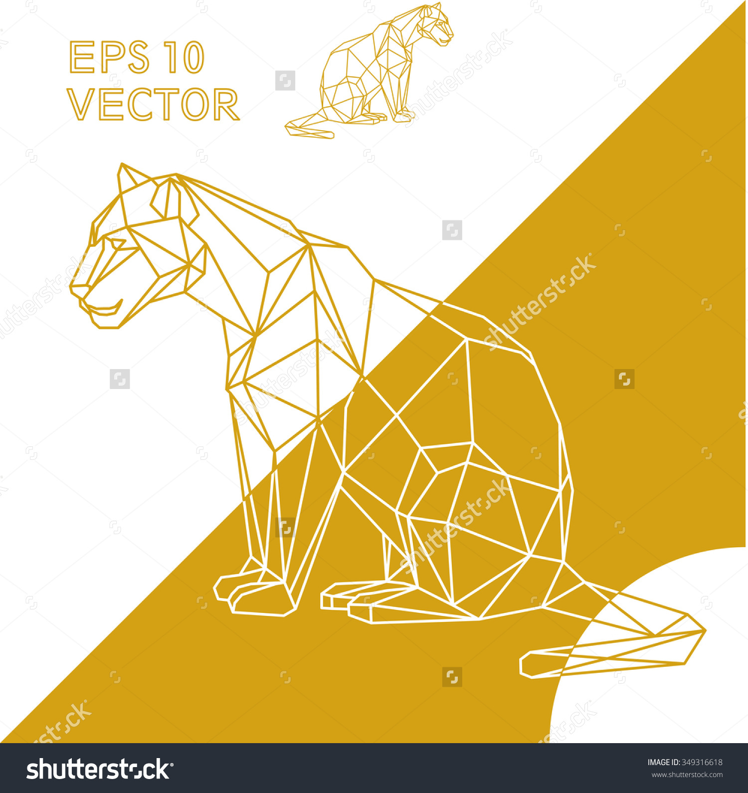 Eiland clipart lone Geometric stock tiger outline vector