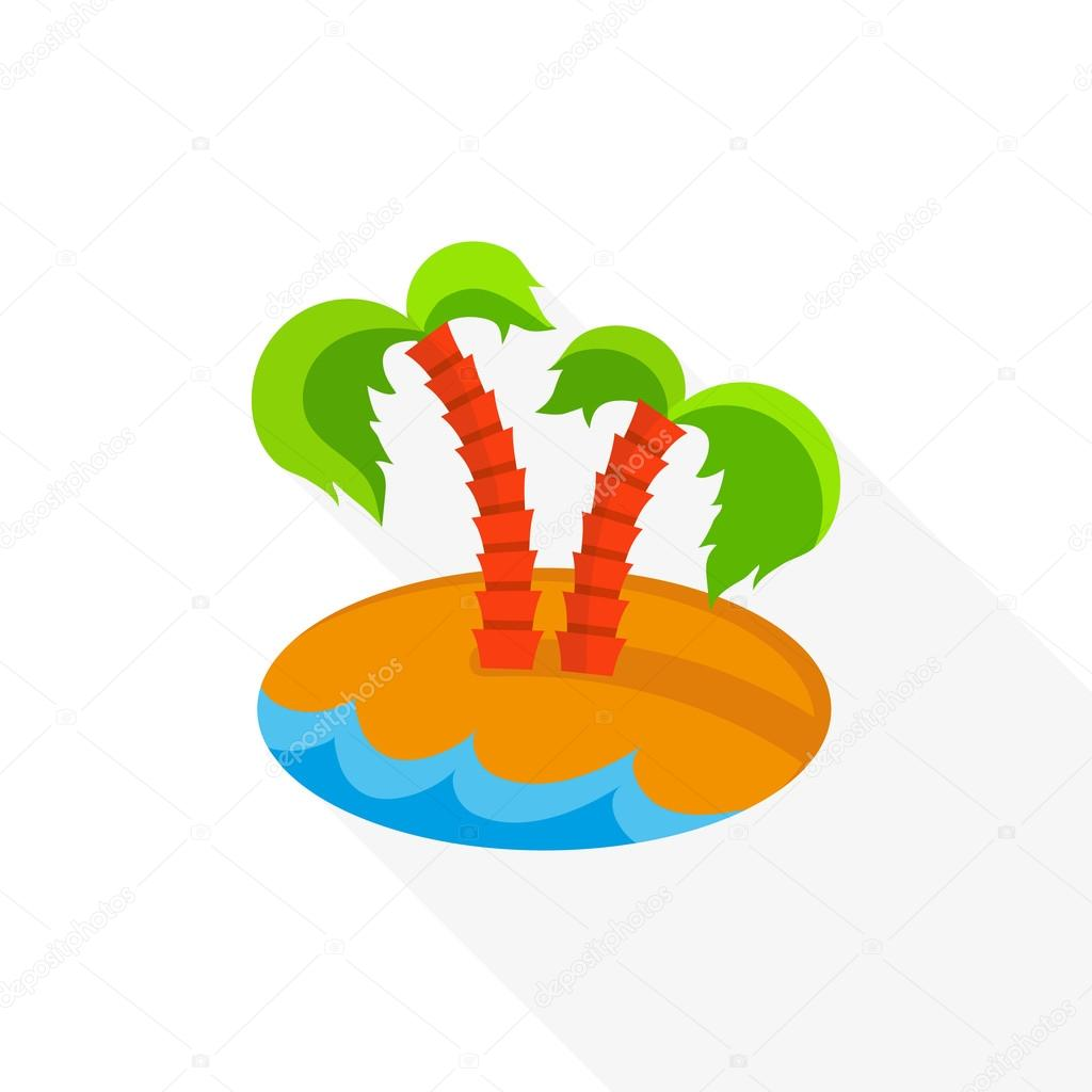 Eiland clipart long tree With Flat web Icon island