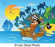 Eiland clipart pirate island Island eps10 near paddling EPS