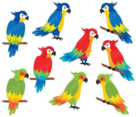 Eiland clipart tropical bird Tropical digital Beach Birds Clipart