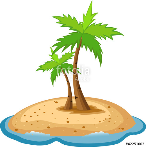 Eiland clipart vector Island clipart Royalty Stock Cliparts