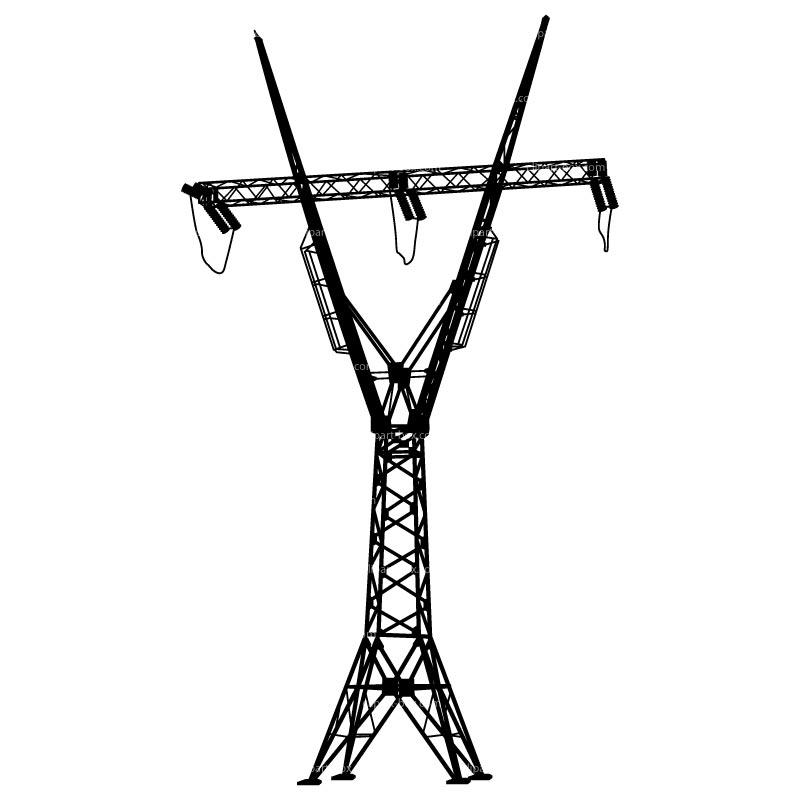 Electrical clipart electric pole Symbol Symbols Pole Power net
