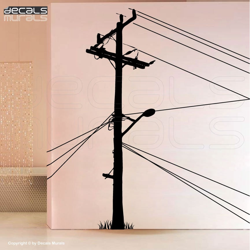 Electrical clipart electric pole Stickers Decals Large Murals decals