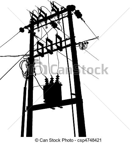 Drawn power line electrical transformer Free Clipart Images Electrical Engineer