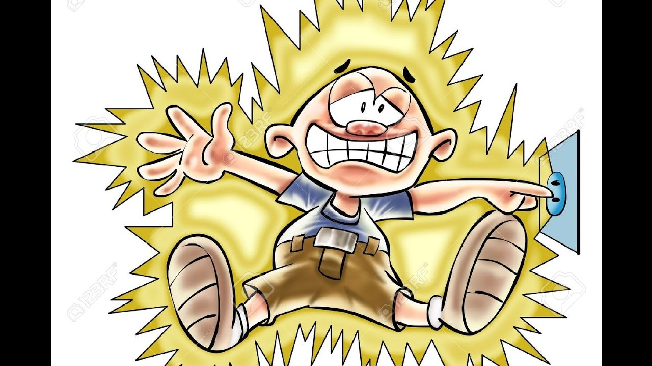 Electrical clipart electric shock YouTube 220 AC Electric Volts