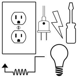 Wire clipart electrical energy  Set Electrician Icons Contractor