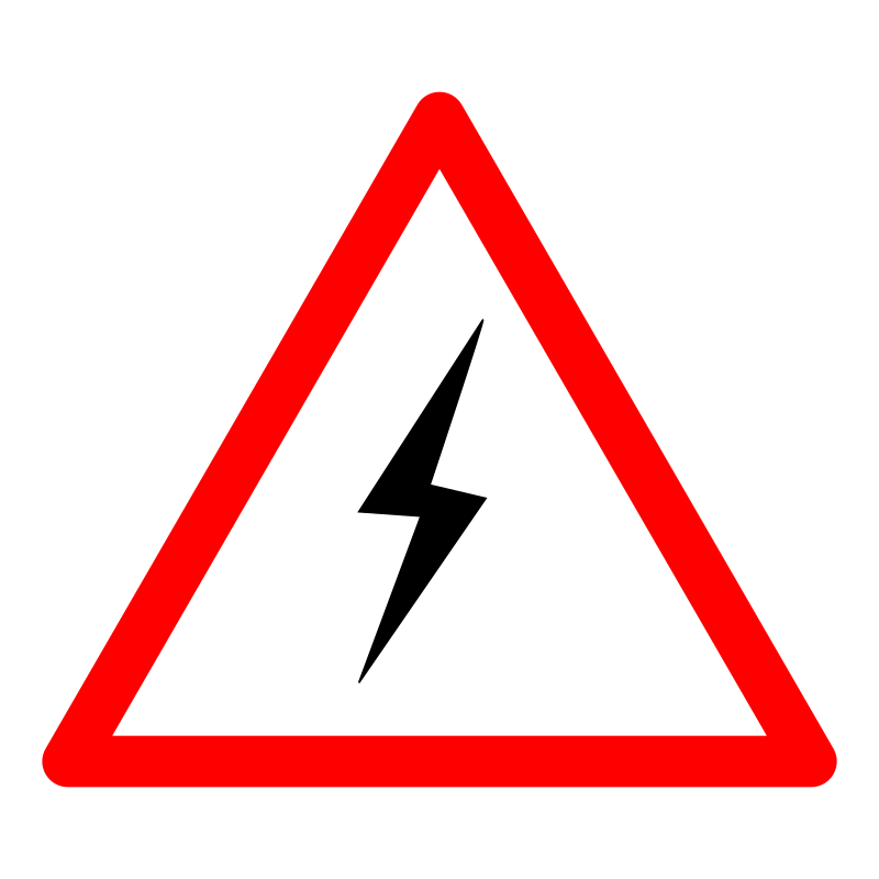 Danger clipart warning sign Shock power clipart clipart