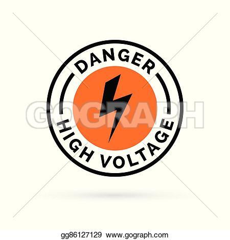 Electrical clipart electricity bolt Hazard high hazard Illustration electrical