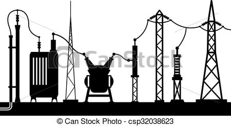Electrical clipart icon Vector Electrical Illustration substation csp32038623