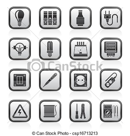 Electrical clipart icon Vector of Clip Electrical csp16713213