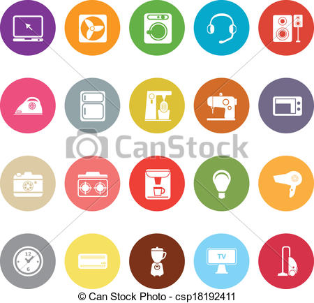 Electrical clipart icon On csp18192411 white  Vector