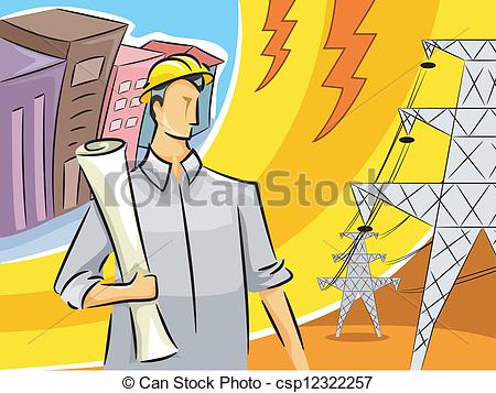 Electrical clipart icon An Illustration Clipart of Engineer