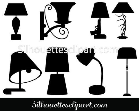 Electrical clipart lamp Art Lamp Clip Silhouette Lamp