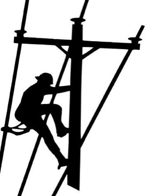 Electrical clipart lineman Lineman Climbing Electrical Apprentice Pole