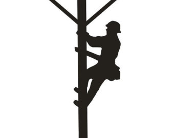 Electrical clipart lineman To silhouette you art cliparts